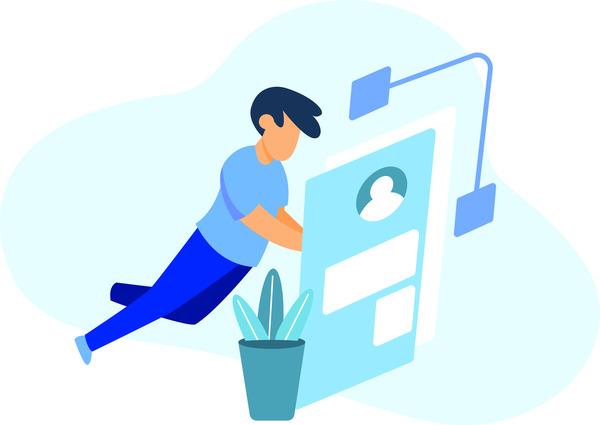 User browsing social media