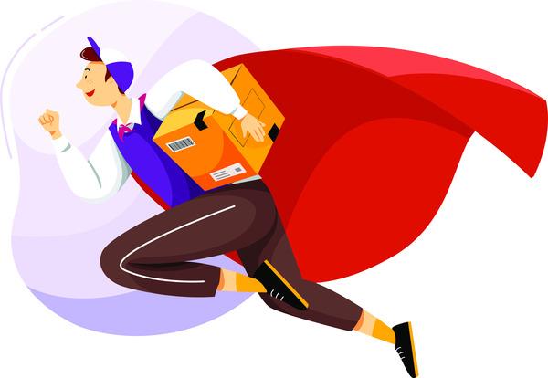 Super man delivery service