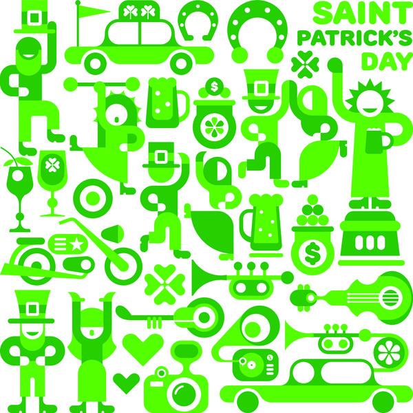 Saint Patrick's day characters