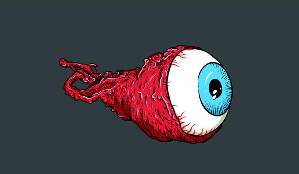 Horror eye cartoon