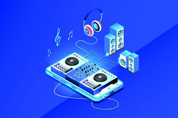 Dj music equipment