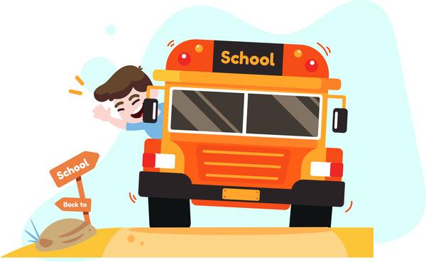School bus boy