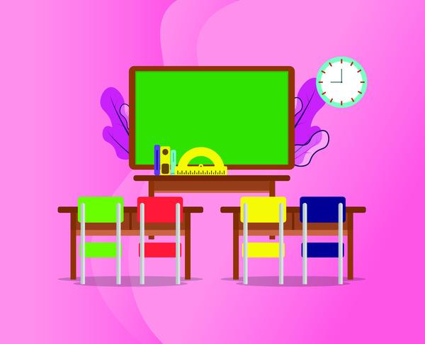 Classroom ilustration