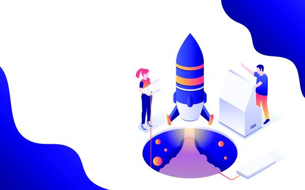 Isometric startup launching