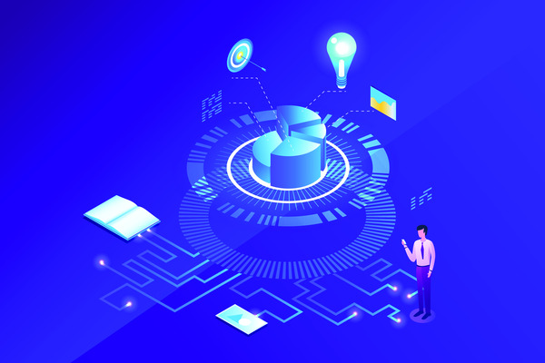 Digital marketing plan concept