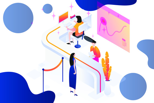 Isometric help desk support
