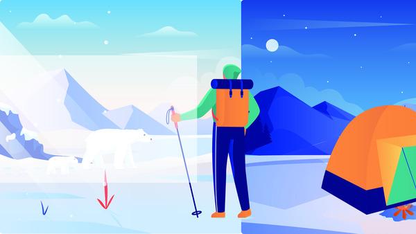 Hiking website header