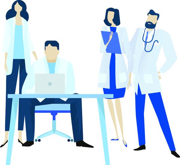 Doctors working