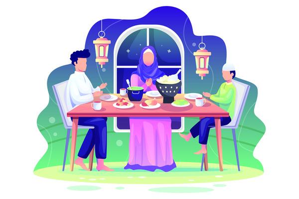 Ramadhan sahur with family