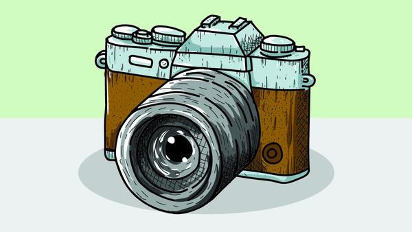 Old professional camera
