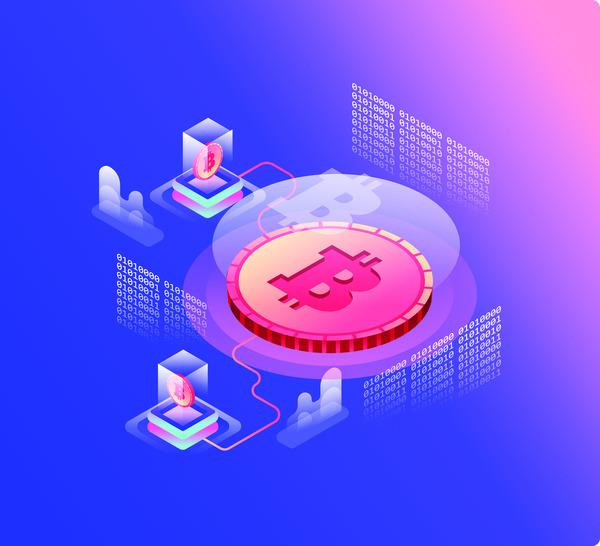 Bitcoin technology concept