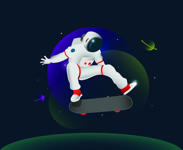 Skating in space