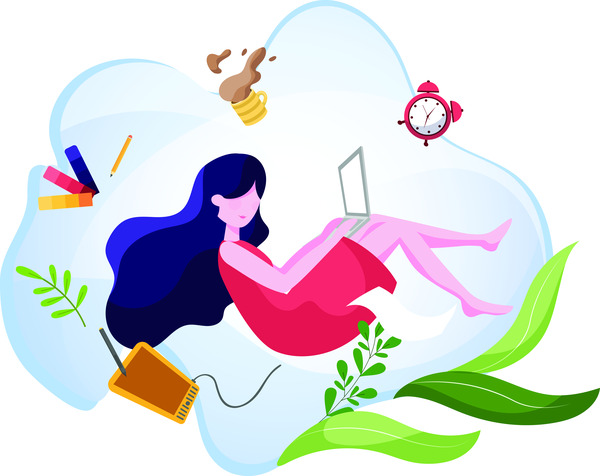 Female freelancer