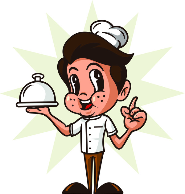 Happy cartoon chef