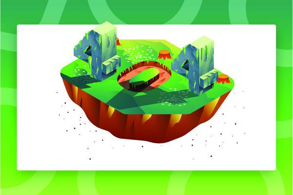 404 nature illustration