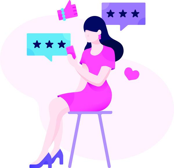 Woman reviews