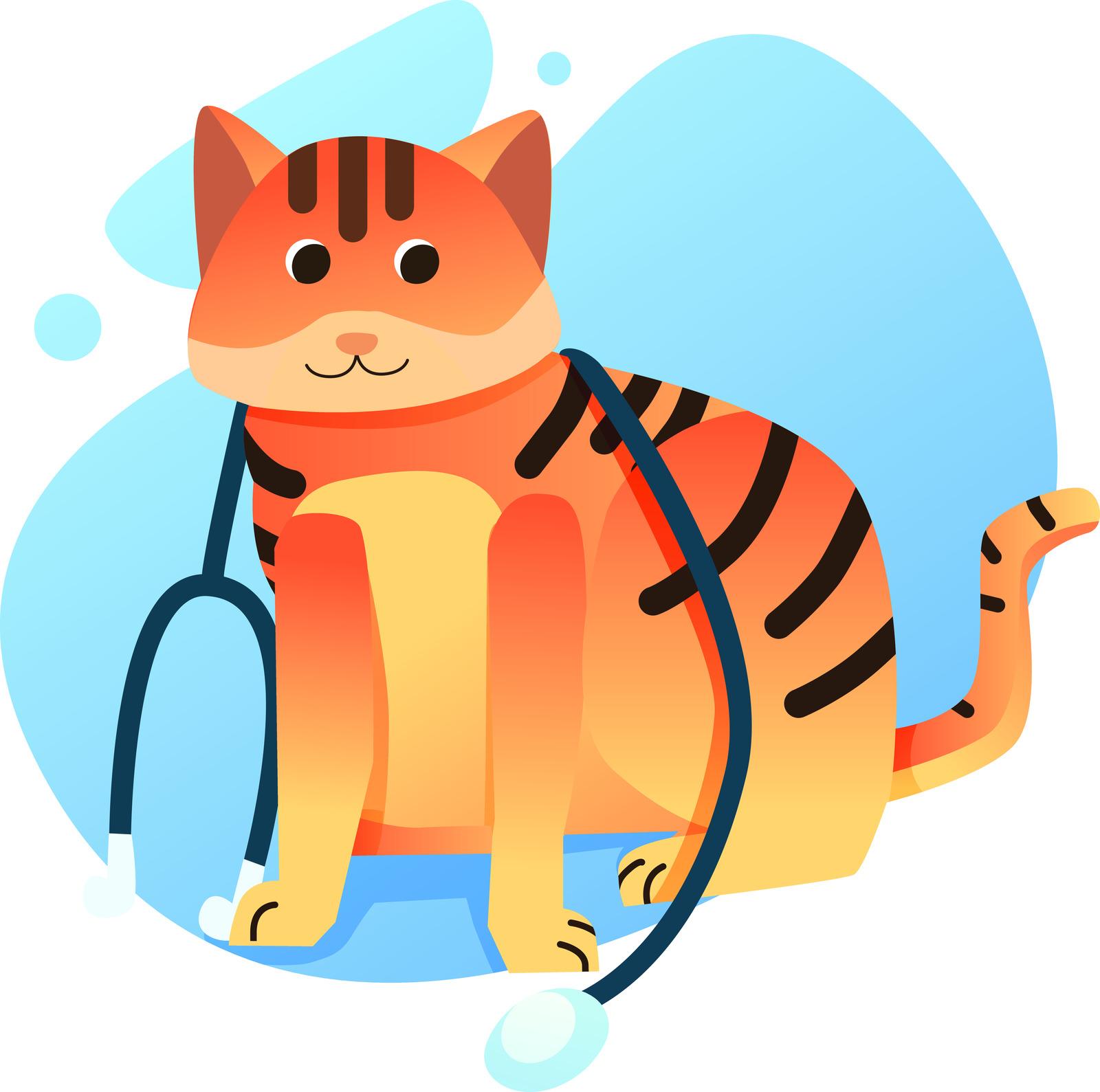 Cute doctor cat