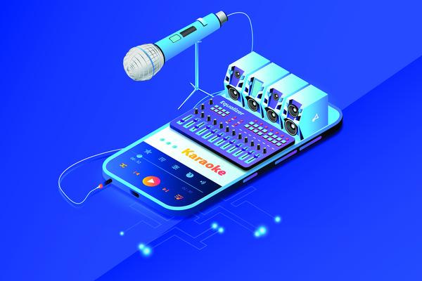 Karaoke mobile app