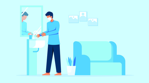 Washing hands for health care