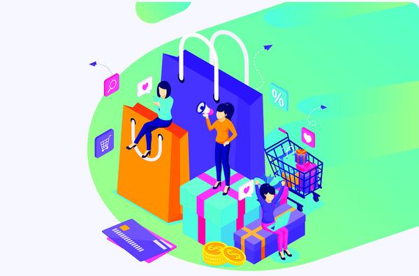 Shopping day concept