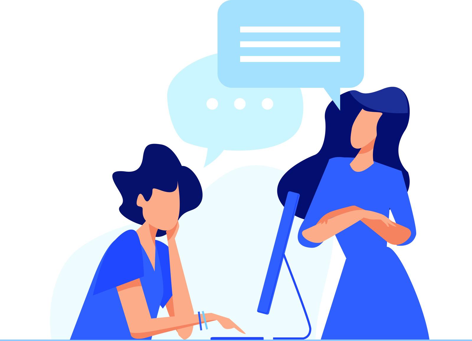 Talking at work