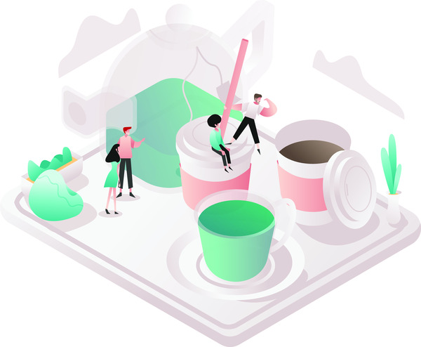 Tea and coffee concept