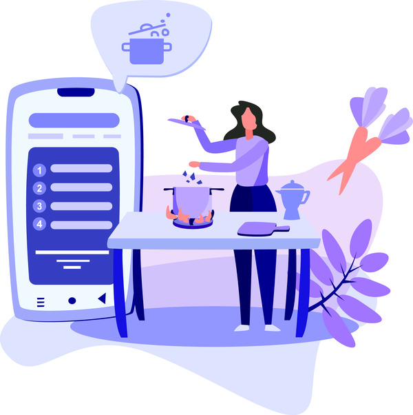 Cooking lesson app