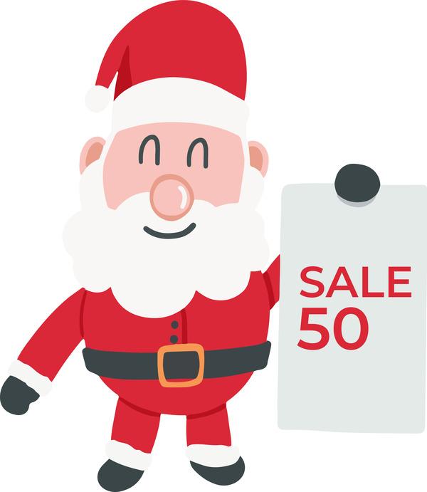 Santa Claus sale sign