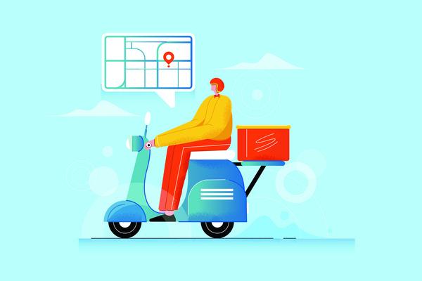 Food delivery illustration
