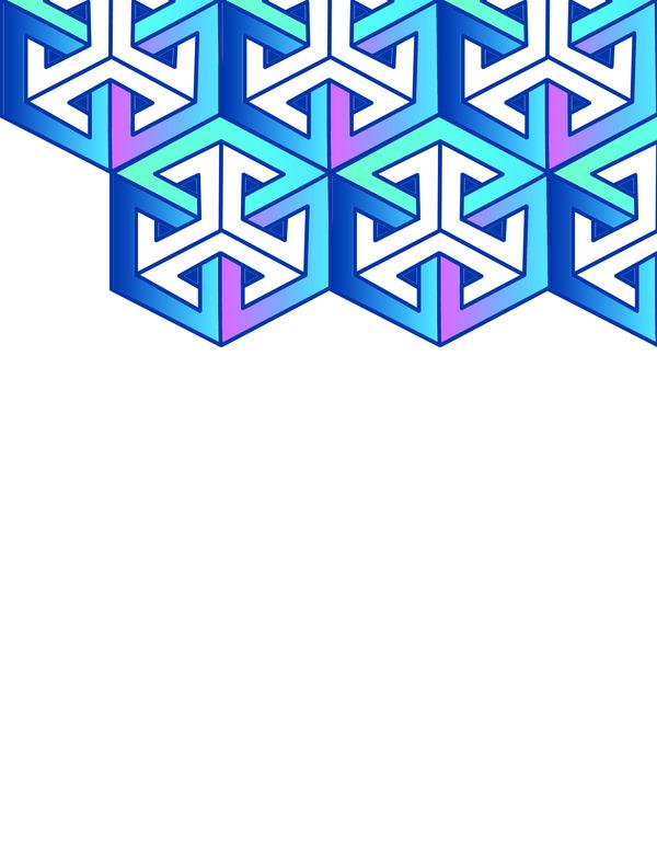 Geometric design for brochures