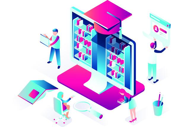 Online education concept