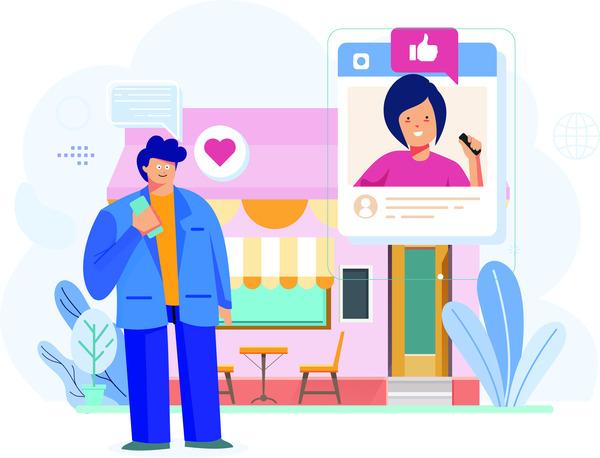 Social media shop review