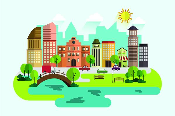 City day illustration