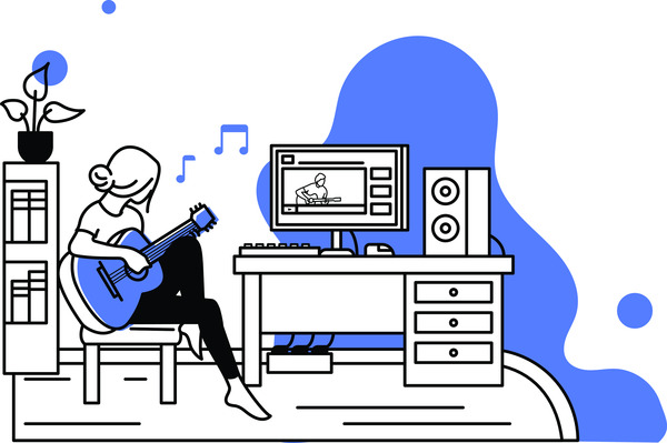 Playing music at home