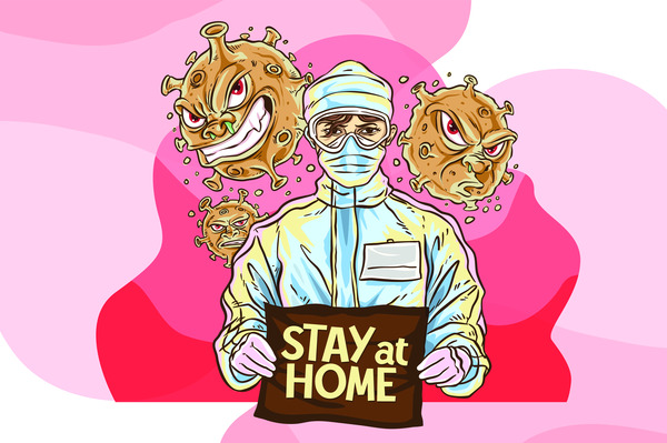 Stay at home away from covid