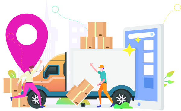 Delivery truck location