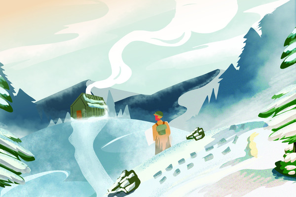 Snow journey landscape