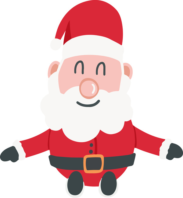 Santa Claus sitting