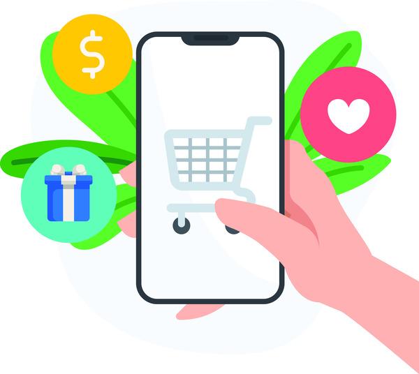 Online store app elements
