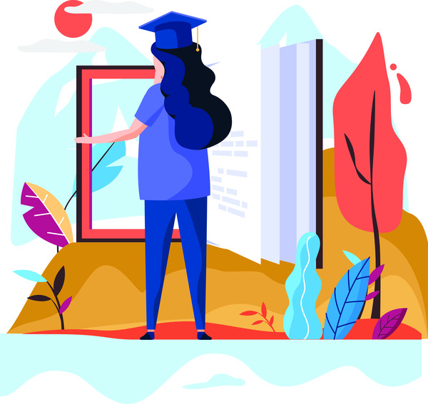 Student graduation concept