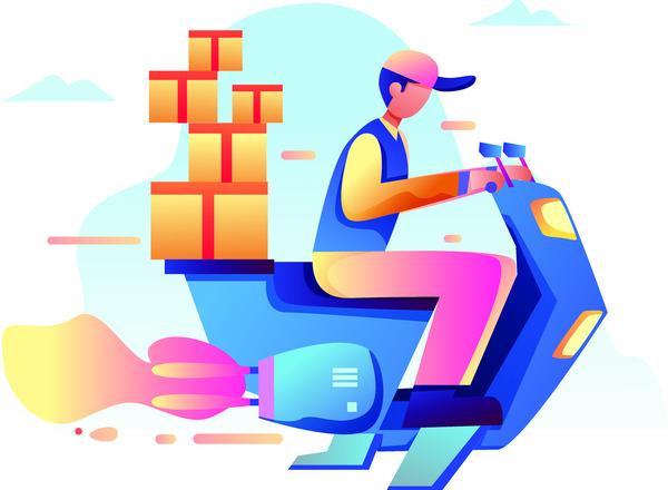 Futuristic delivery service