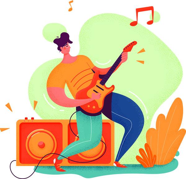 Playing music