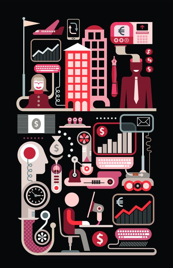 Abstract finance art