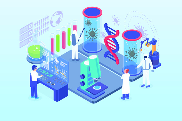 Virus research laboratory