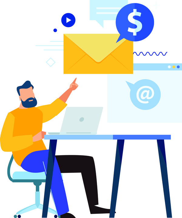 Sending money by email