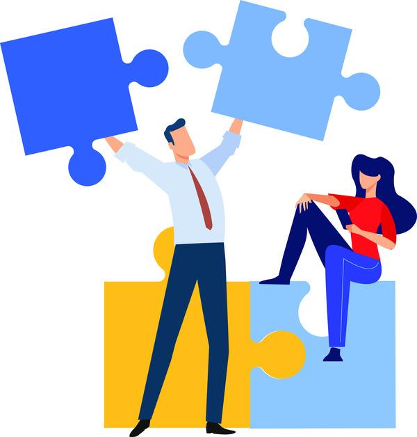 Couple Solving Puzzle