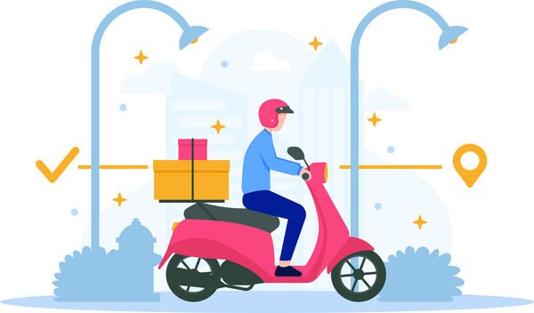 Scooter package delivery