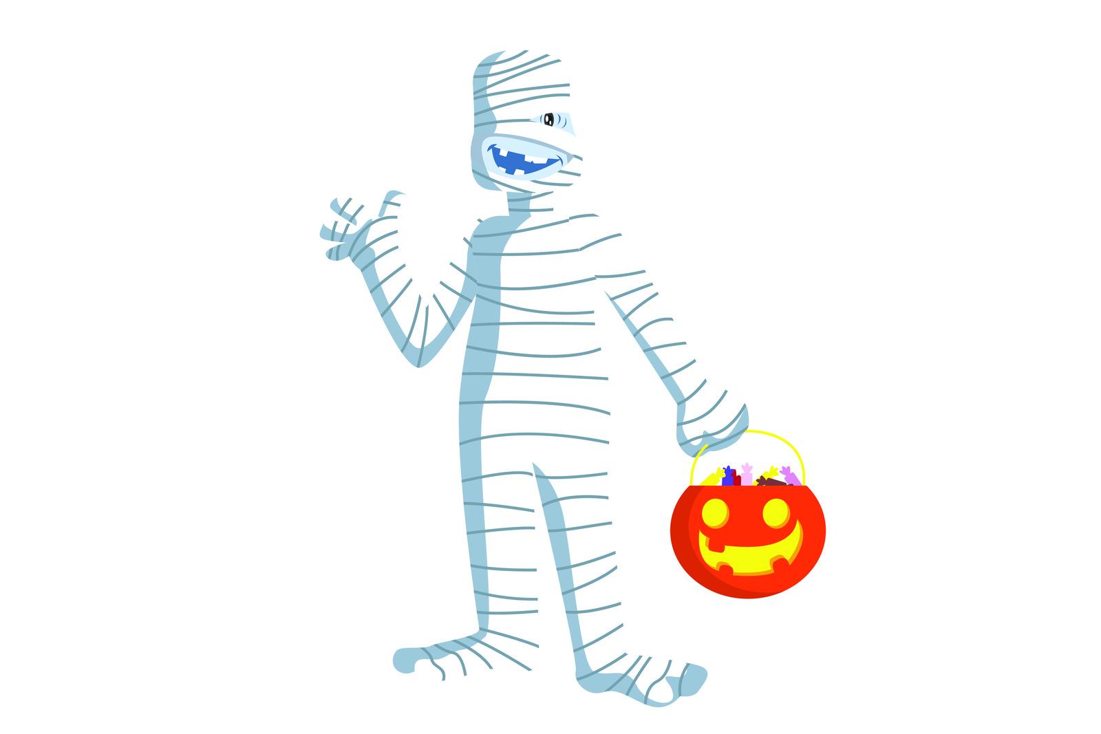 Zombie mummy character