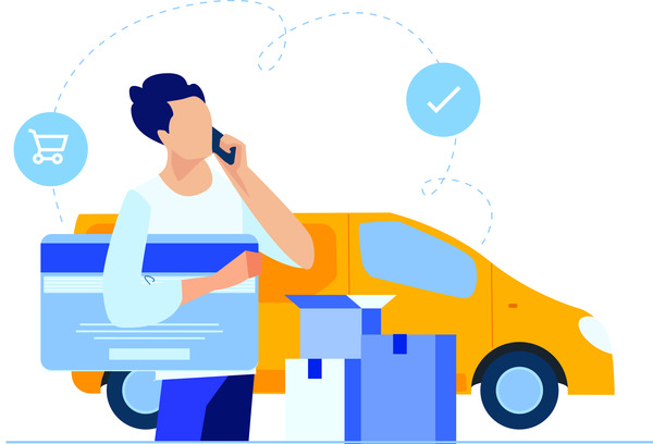 Shoping delivery by car