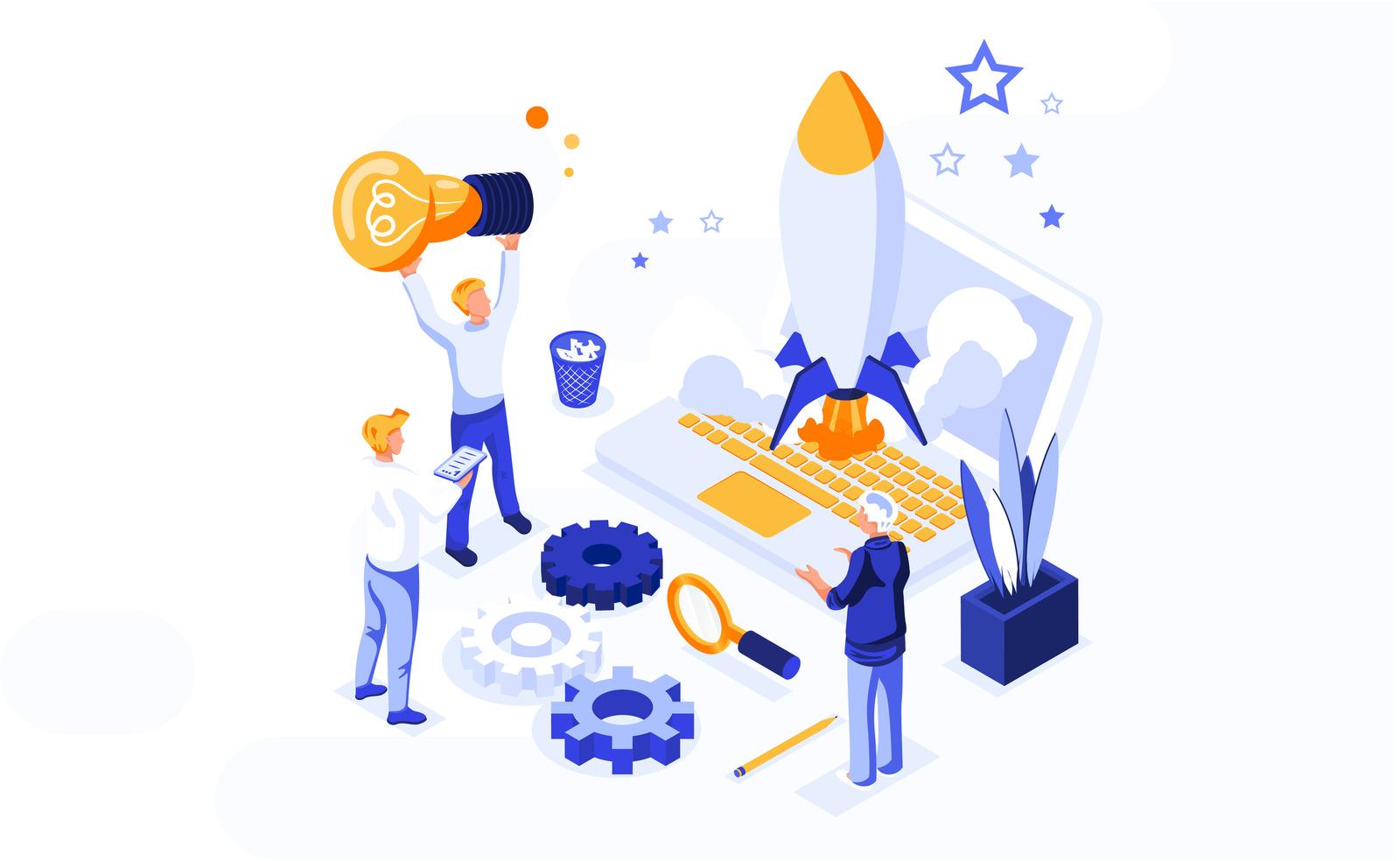 Isometric startup development